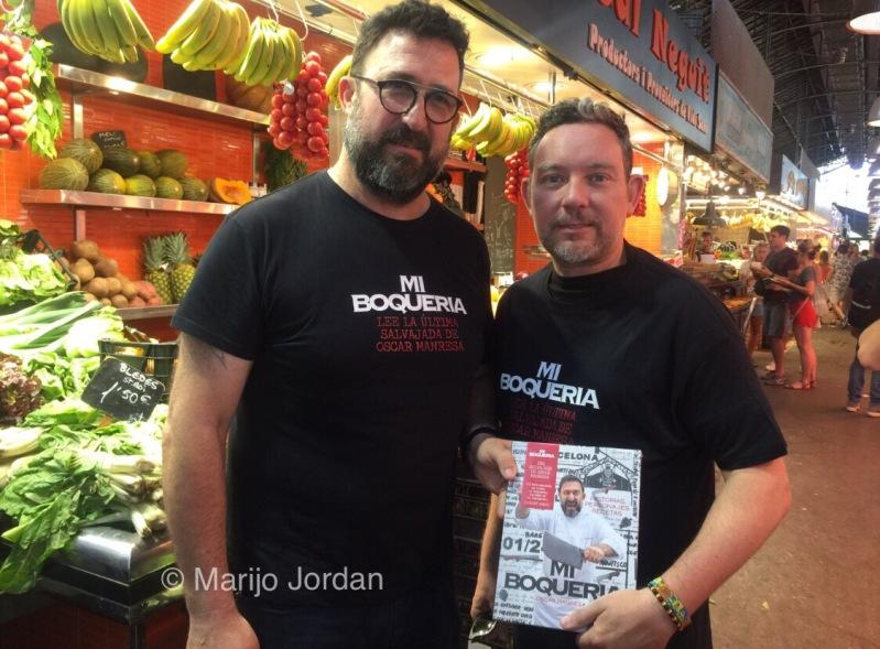 Óscar con Albert Adrià, que prologa el libro