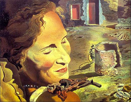 Dalí: Retrato de Gala con dos costillas de cordro en equilibrio sobre sus hombros (1933)